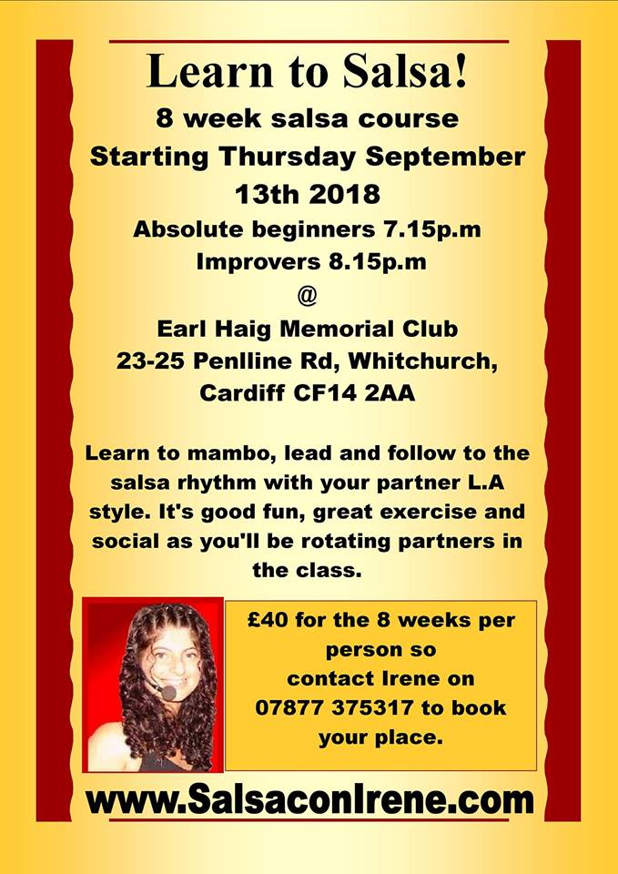 [Class] 8 week Salsa beginners & improvers course